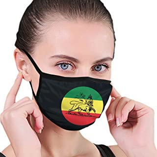 DUDBFGG Mouth Cover,Rasta Lion Judah Ethiopian Flag Washable Face Shield Mouth Cover for Men & Women