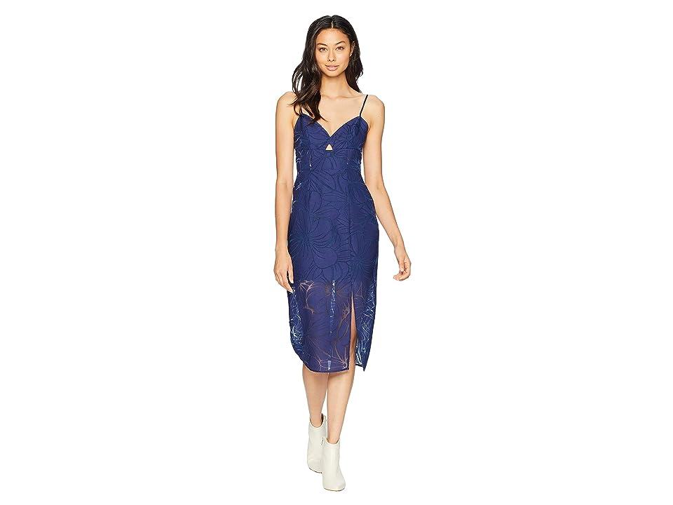 BCBGeneration Cut Out Midi Dress (Blue) Women