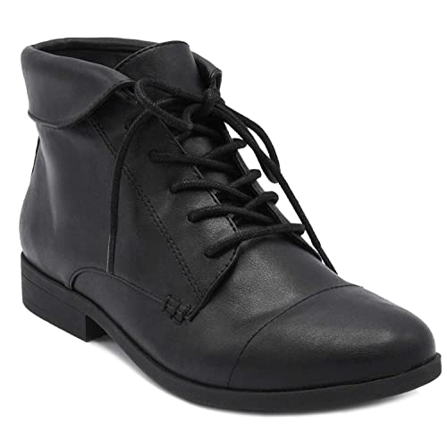 Gloria Vanderbilt Womens Claudette Dress Ankle Boot Ladies Lace Up Bootie ...