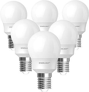 E14 LED Light Bulb, Mini P45 Shape with Milky Diffuser, 5 Watt, Netrual White 4000K & RA≈92 High Color Rending, 500 Lumen...