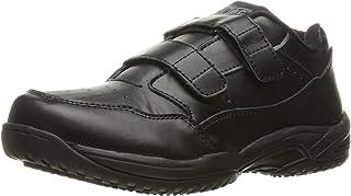 Adtec Men's Black Velco Work Shoe - Slip Resistant, Breathable, Comfortable + Affordable, Memory Foam Insole, Black, 8.5 M US
