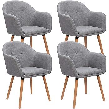 WOLTU 1x Esszimmerstühle Küchenstuhl Wohnzimmerstuhl Design