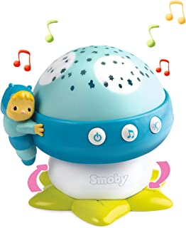 Smoby 110118 Cotoons Gute-Night Mushroom with Music, Toys, Night Light, Baby Lamp, Blue