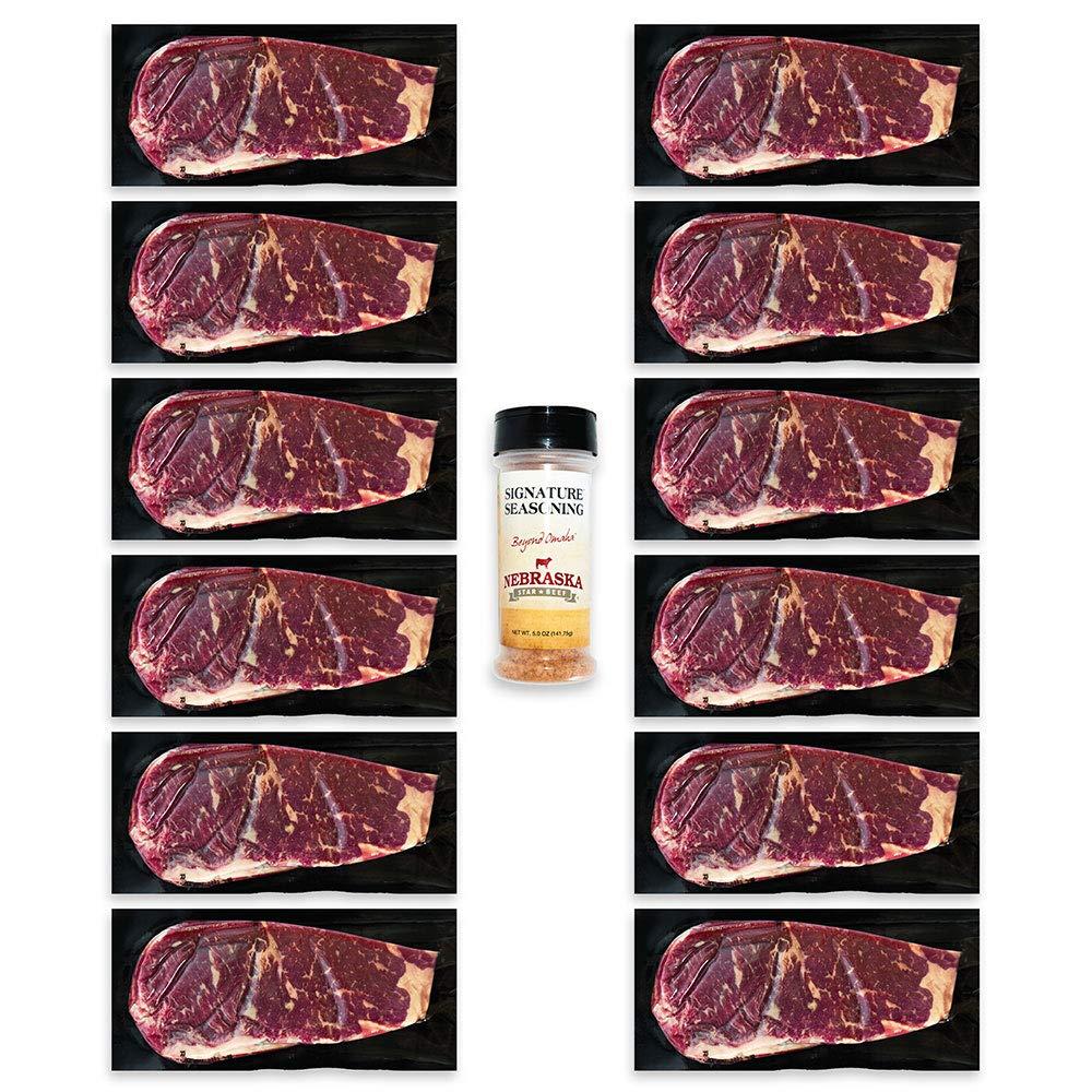 Aged Angus Petite New York Strip by -Prestige Cheap Import Nebraska Star Beef