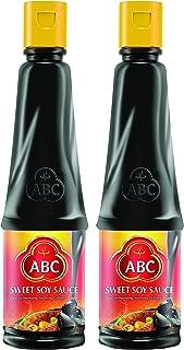 ABC Sweet Soy Sauce, Marinade Dip Stir BBQ, Black Dark Soy Vegan, 20.3 Fl. Oz 600 ml (Pack of 2)