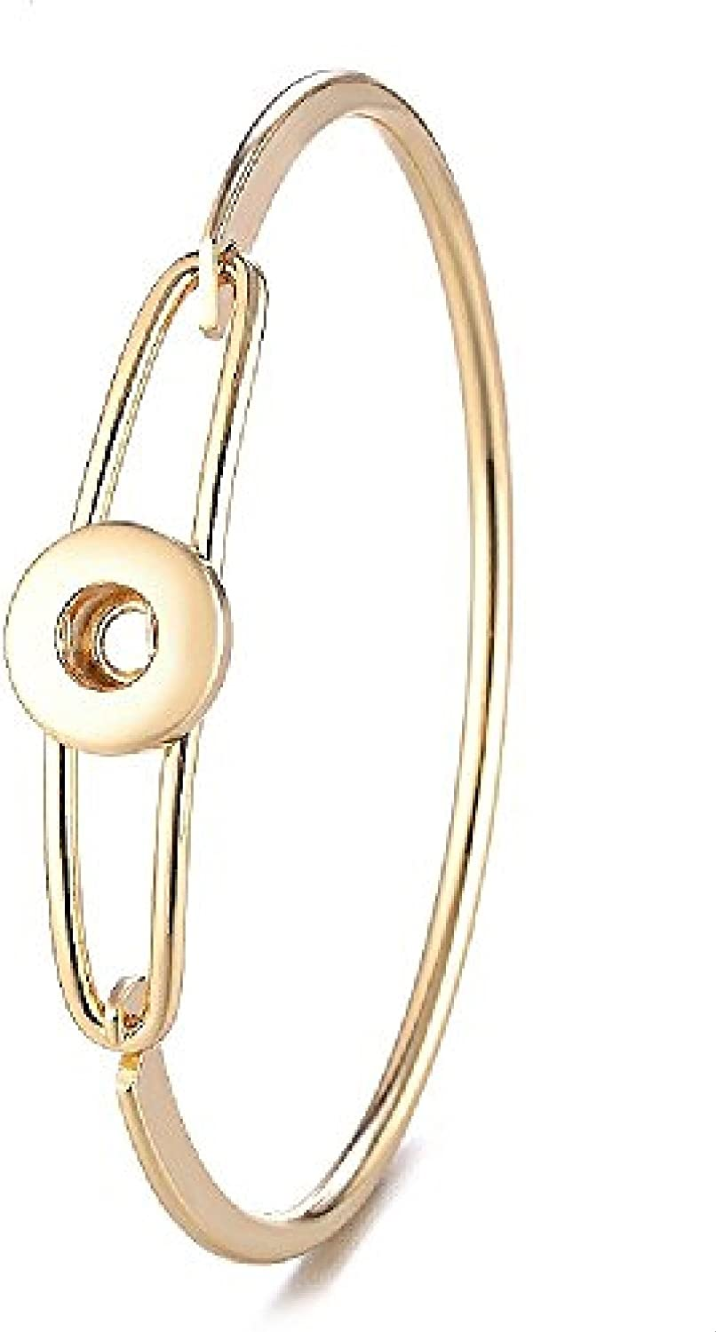 Mini Snap Jewelry Gold Hinge Bangle fits 12mm Petite Ginger Style Charms My Prime Gifts