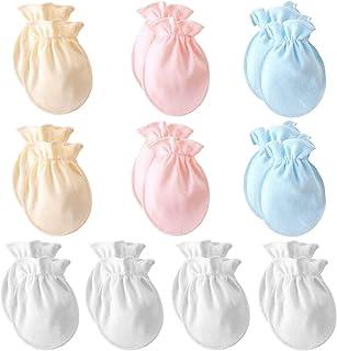 قفازات للأطفال حديثي الولادة من عمر 0 إلى 6 أشهر للبنات والأولاد بدون خدوش للرضع بدون تساقط