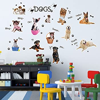 Dogs and Pets Wall Stickers Wall Decals Animals Wall Decals Wall Art Scottish Deerhound Dog Wall Sticker Decal Kids Stickers