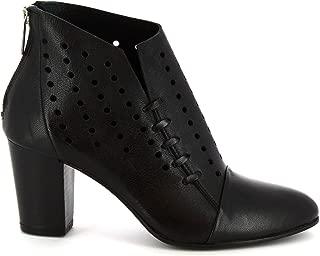 LEONARDO SHOES Luxury Fashion Womens Z012AMERICANERO Black Ankle Boots | Season Permanent