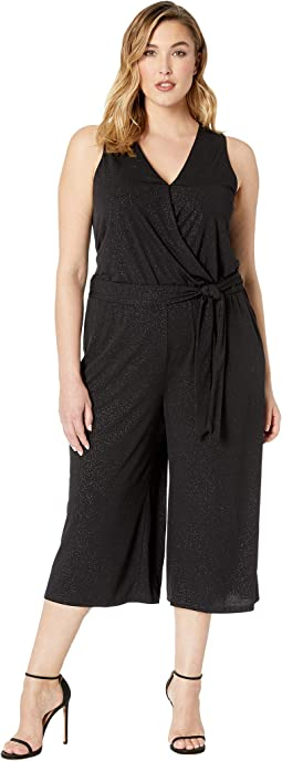 Plus Size Wrap Crop Jumpsuit