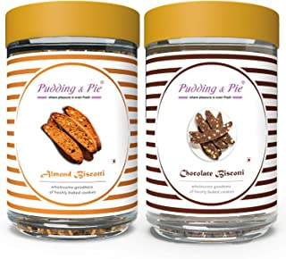 Pudding & Pie Biscotti Combo Gift Pack | Almond & Chocolate Biscotti | Healthy Ingredients, Natural Brown Sugar, Jaggery |...