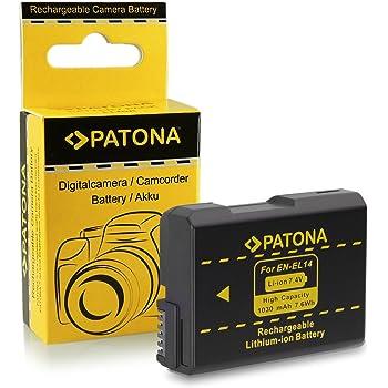 Nikon EN-EL 14 - Batería/Pila Recargable (1030 mAh, Ion de Litio ...