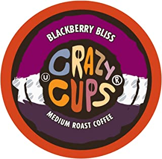 Crazy Cups Flavored Coffee, for the Keurig K Cups 2.0 Brewers, Seasonal Blackberry Bliss, 22 Count