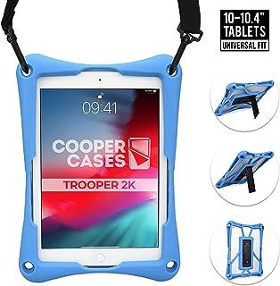 Cooper Trooper 2K Rugged Case for 10-10.4'' Tablet | Tough Bumper Protective Drop Shock Proof Kids Holder Carrying Cover Bag, Stand, Hand Strap (Blue)