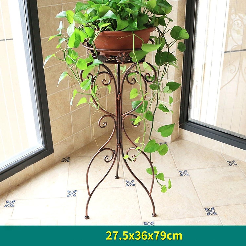 Flower Stand Shelf Living Room Single Layer Floor Balcony Indoor Plant Flower Pot Rack (color   Chocolate, Size   27.53679cm)