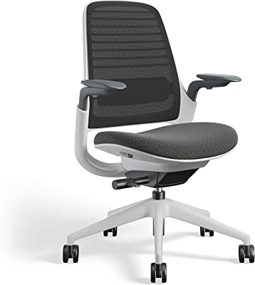 Steelcase Series 1 Office Chair, Carpet, 3D Microknit Graphite/Cogent Connect Graphite