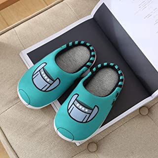 Treslin Breathable Memory Foam Slippers,Autumn and Winter Cotton Slippers Children's Indoor Home Cartoon Latex Parent-Child Toy Slippers Men's high-Speed Rail