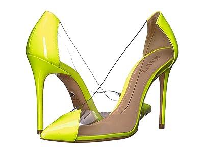 Schutz Cendi (Neon Yellow Vinil/Verniz Ne) High Heels