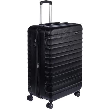 AmazonBasics Hardside Spinner, Carry-On, Expandable Suitcase Luggage with Wheels, 30 Inch, Black