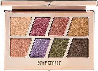 PONY EFFECT Master Eye Palette (Duochrome Shimmer) 11g, 4.5 Ounces, Shimmer pigmented makeup Palette, Glitter eyeshadow Palette, 8 colors