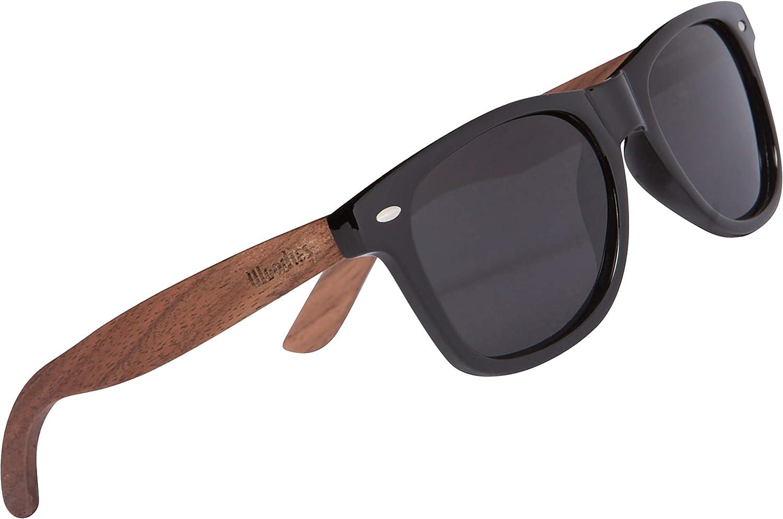 WOODIES Brand new Polarized Walnut Los Angeles Mall Wood Sunglasses for Polari Kids Black