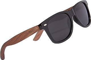 Polarized Walnut Wood Sunglasses for Kids | Black...