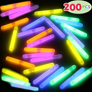 JOYIN 200 Pcs Mini Glow Sticks Bulk with 8 Colors for Glow Easter Egg, Kids Glow-in-The-Dark, Easter Basket Stuffers Fillers Gift, Easter Eggs Hunt Game and Easter Party Favors Decorations