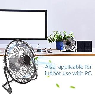 AUNMAS 5.2W El Panel Solar accionó los Mini Ventiladores portátiles de la Fan USB para el enfriamiento al Aire Libre de la ventilación de Home Office