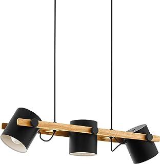 Lámpara Eglo Hornwood, 60 W, color negro, marrón.