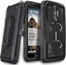 COVRWARE Aegis Series Case Compatible with LG Stylo 3 / 3 Plus with Built-in Screen..
