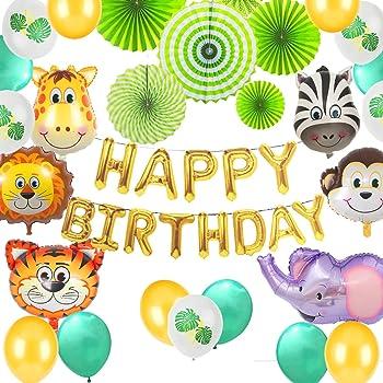 JeVenis Set de 23 animales de la selva Decoraciones de feliz ...