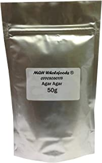 Triple A Online Ltd 50G Grade A Premium High Quality Agar Faluda Powder Food Grade Ceylon Moss China Grass - Vegetarian Vegan Gelatine