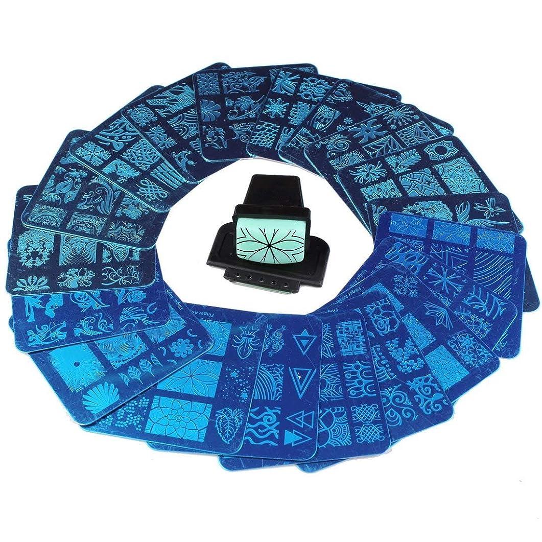 ケープほとんどの場合オフェンスFingerAngel ネイルイメージプレートセット ネイルプレート 正方形20枚 付き ネイルサロンも自宅も使えるネイルプレート