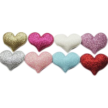 Embellishments Supply Wedding Confetti Valentine/'s Day Table Decoration 2050pcs Hot Pink Satin Padded Hearts Engagement Parties 20mm