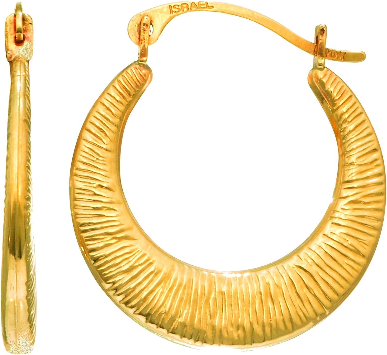 MCS Jewelry 14 Karat Yellow Gold SMALL Mesh Hoop Earrings Children's