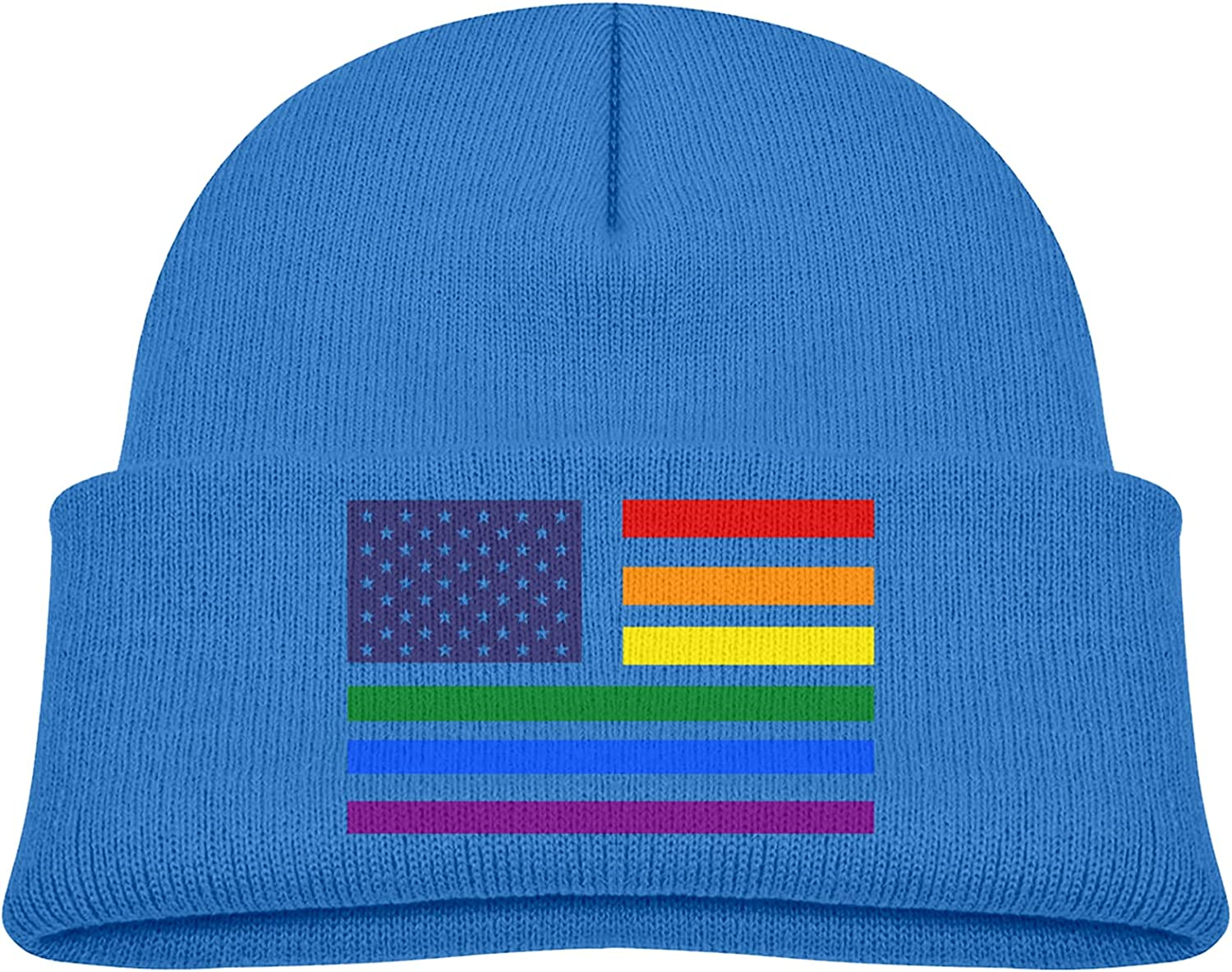 Rainbow American Flag Trendy Koopy Cap Hats C Don't miss the campaign Knit Winter Beanie Max 90% OFF