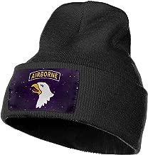 JSHG JDJG Unisex Knitted Hat Fashion Skull Cap Knitting Hats - US 101st Airborne Division