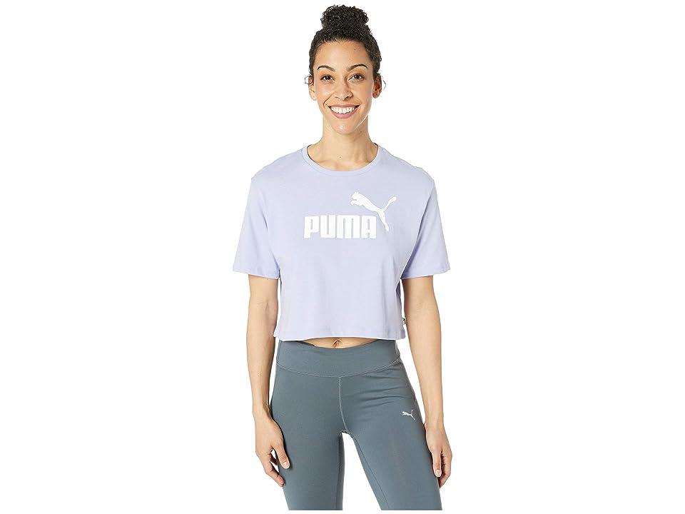 PUMA ESS+ Cropped Logo Tee (Sweet Lavender) Women