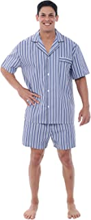 Alexander Del Rossa Mens Woven Cotton Pajama Set,...