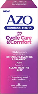 AZO� Cycle Care & Comfort | Supports Clear and Healthy Skin* | Supports Cycle Related Acne* | Helps Relieve Bloating, Irritability and Cramping* | PMS and Hormonal Health Support* | 30 CT