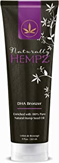 Naturally Hempz DHA Bronzer Tanning Lotion By Supre 9 oz.