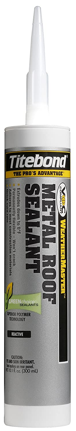 Titebond 62401 Metal Roof Sealant Cartridge, 10.1 oz, Gray