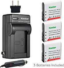Kastar 3X Battery + Charger for Casio NP-40 LB-060 & Casio Exilim EX-Z1000 EX-Z1050 EX-Z1080 EX-Z1200 EX-Z700 EX-Z750 EX-Z850 EX-FC100 FC150 FC160S Z400 PRO P505 P600 P700 Zoom Z100 Z1000 XG-1
