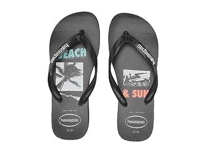 Havaianas Top Beach Sandal (Black) Men