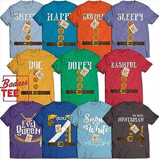 Dwarfs Squad Costume Prince Charming Evil Queen Halloween Group Matching Costume Customized T-Shirt | Long-Sleeve | Hoodie | Tank Top | Sweatshirt