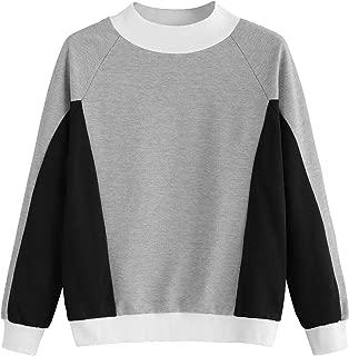 Fabricorn Grey Melange and Black Sweatshirt for Women (Grey)