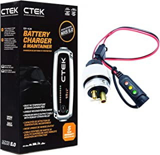 Juice Your Ride Battery Charger Tender Kit for Rolls Royce Ghost 2013 & Older - Includes CTEK 4.3A Charger & Custom Adapter for Rolls Royce (with Indicator)