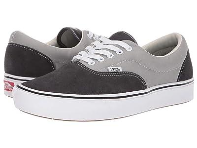 Vans ComfyCush Era ((Suede/Canvas) Asphalt/Drizzle) Athletic Shoes