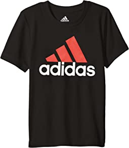 adidas Kids Clima Perfomance Logo Tee (Toddler/Little Kids)