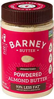 BARNEY Powdered Almond Butter, Unsweetened, Paleo, KETO, Non-GMO, Skin-Free, 8 Ounce